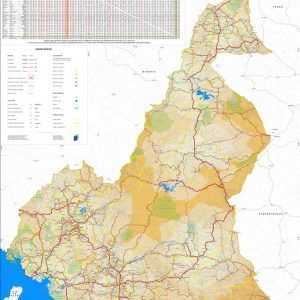 Illustration Carte stratégique 1_Le réseau routier du Cameroun (Septembre 2019)