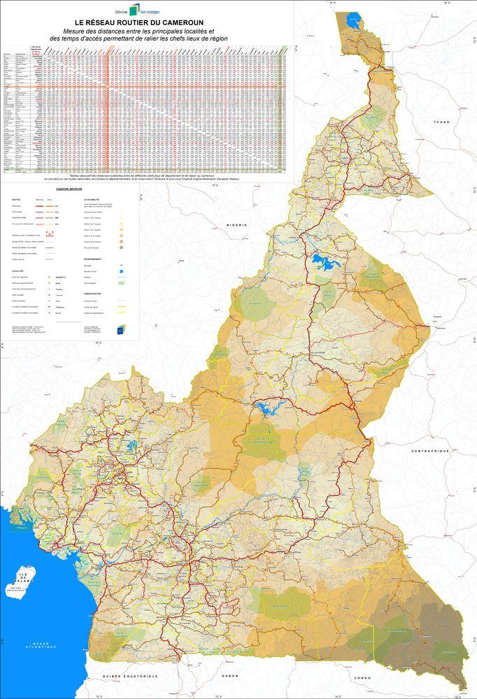 Illustration Carte stratégique routière_Le réseau routier du Cameroun (Septembre 2019)