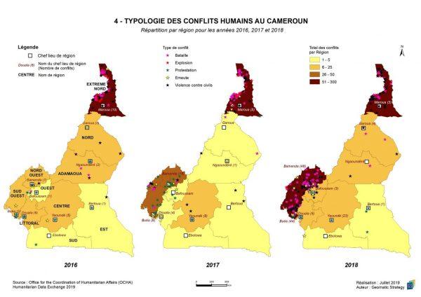 Illustration Stratégies spatiales n°5 - TYPOLOGIE DES CONFLITS AU CAMEROUN