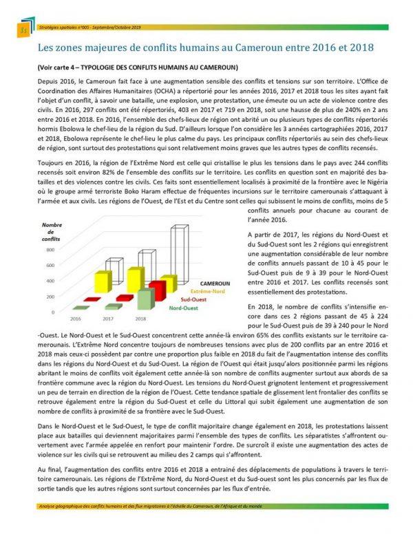 Illustration Stratégies spatiales n°5 - Zones de conflits majeurs au Cameroun