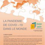 Page de couverture Stratégies spatiales 2021_Trimestre 1_La pandémie du covid-19 dans le monde